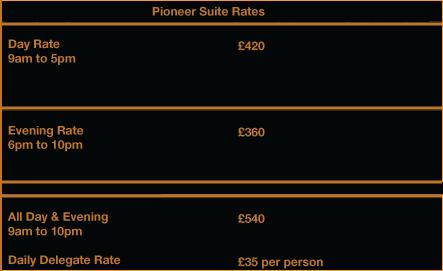 Pioneer Suite Rate
